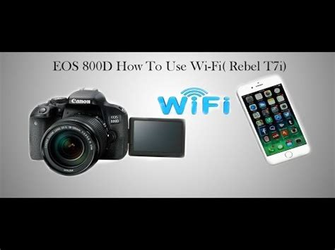 Canon 800D WIFI Function and Connection ||Canon Camera