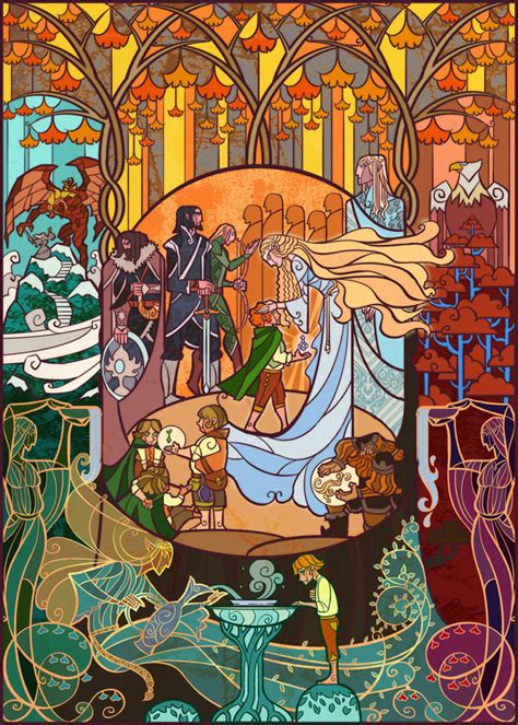 Illustration art Elf lord of the rings movie the hobbit