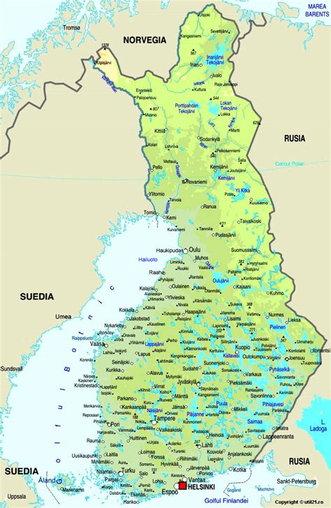 Map of Finland, maps, worl atlas, Finland map, online maps